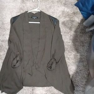 Love Culture Cardigan Size Medium Olive/Black